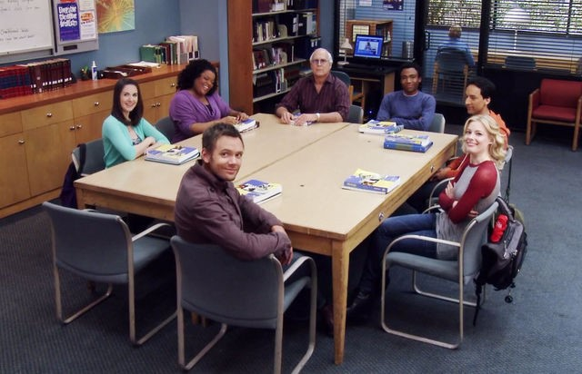 """We started as a study group"" – Community (Retrieved from http://vignette2.wikia.nocookie.net/community-sitcom/images/3/3c/CA_Dean_Peltons_shout_out_to_the_study_group.jpg/revision/latest/scale-to-width-down/640?cb=20120517195549)d"